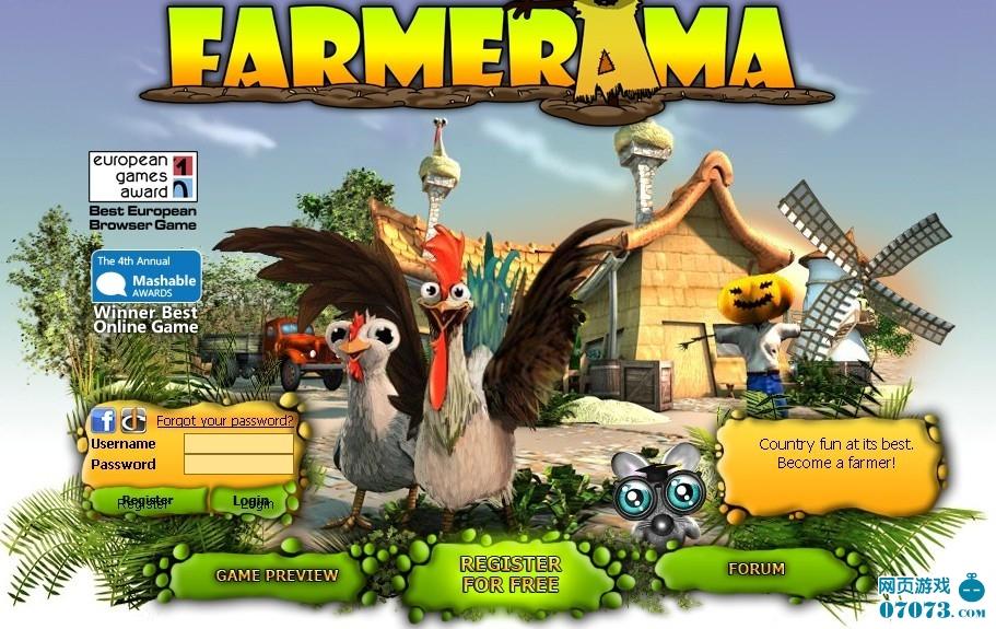 浏览器为基础的农场题材网页游戏,玩家在游戏里可以种植农田,饲养宠物