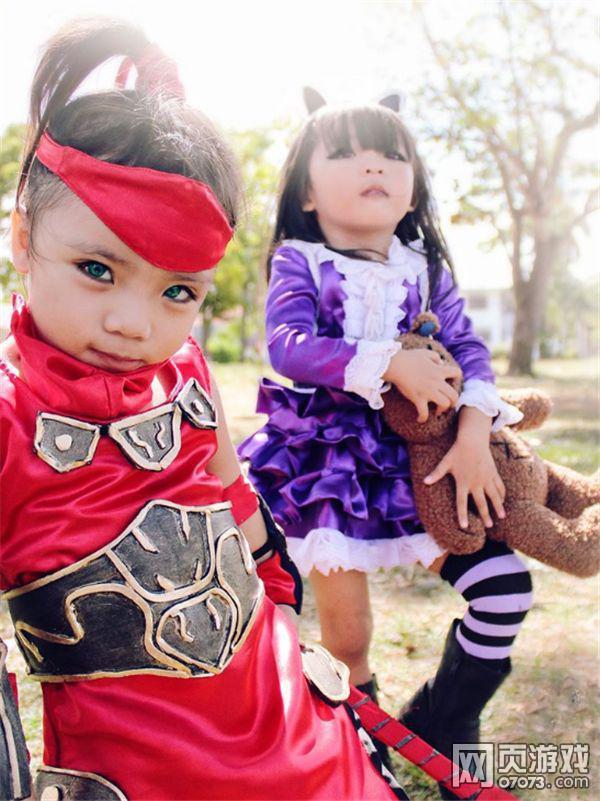 史上最萌英雄联盟cosplay 外国姐弟扮诺手德莱文